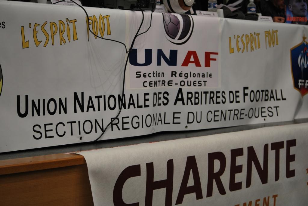 La banderole de l'UNAF Centre Ouest