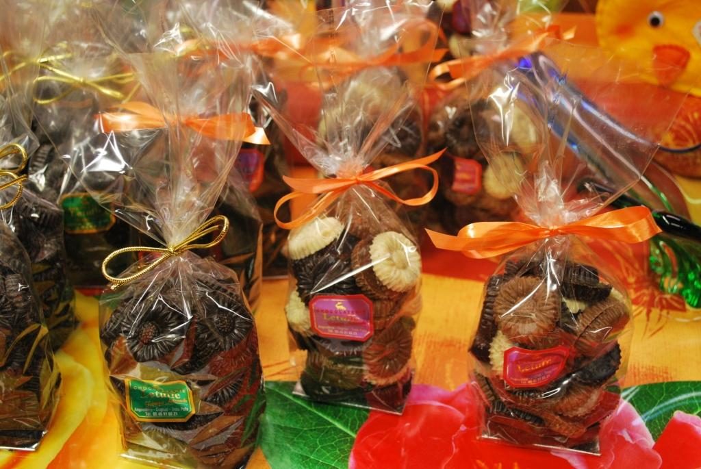Chocolats en vente à la boutique Letuffe